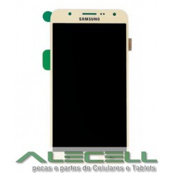 Tela Touch + LCD Display Samsung SM-J700 J7 Dourado Original